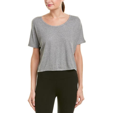 Vimmia Serenity Cropped T-Shirt - LT. HT. GREY