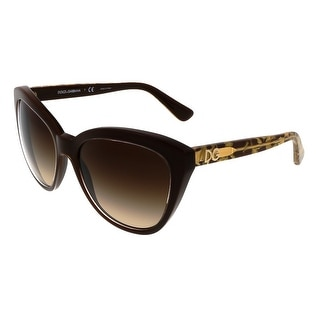 Dolce&Gabbana DG4250 291813 Crystal Brown Square Sunglasses