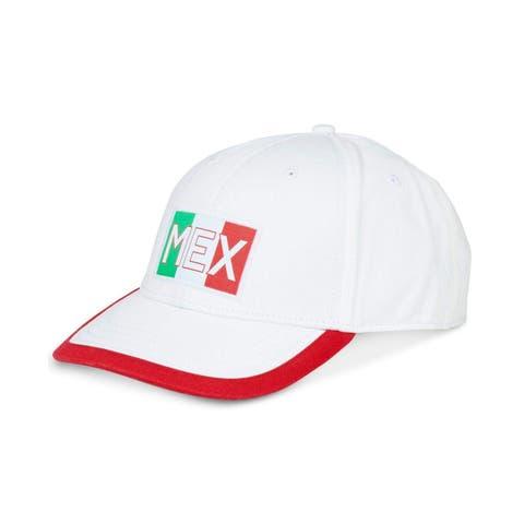 Nautica White 6 Panel Mexico Embroidered Size Adjustable Baseball Cap