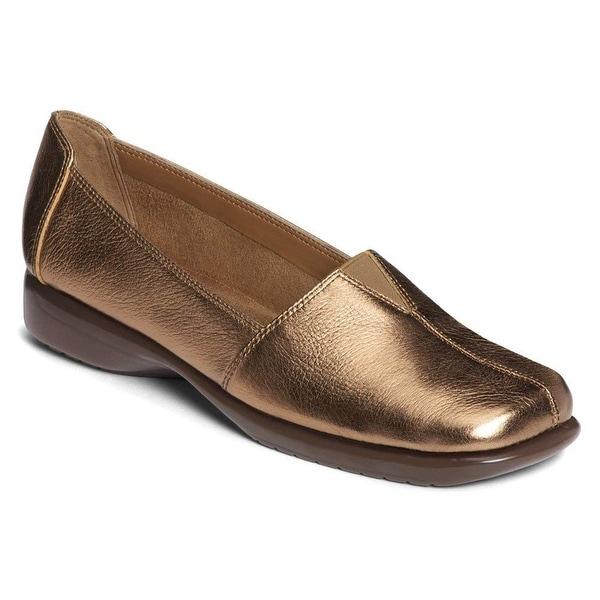 Aerosoles Womens Fabrication Leather Closed Toe Slide Flats