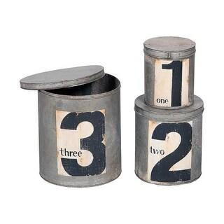 GuildMaster 202006S Tins Three Piece Metal Canister Set