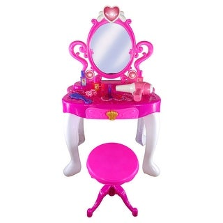 Toy Vanity Play Set With Chair Beautiful Kids Beauty Set