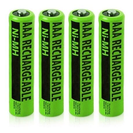 Replacement Panasonic NiMH AAA Cordless Phone Battery - 630mAh / 1.2v (4 Pack)