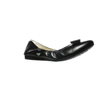 Cole Haan Womens D43262 Black Leather Ballet Flats Size 9