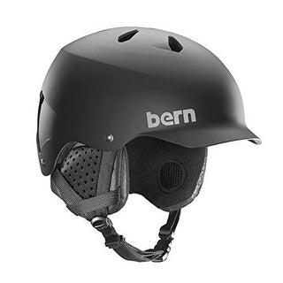 Bern Unisex Watts Eps, Matte Black W/ Black Liner , M