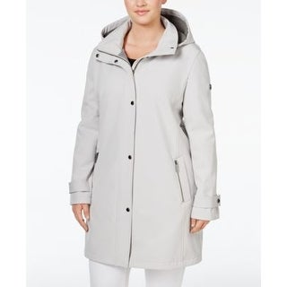 Calvin Klein Plus Size 4-Way Stretch Soft Cement Coat