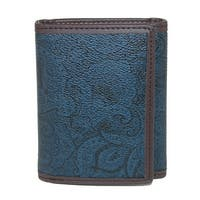 Robert Graham Men's Faux Leather Trifold Wallet with Two Tone Paisley Print - One size