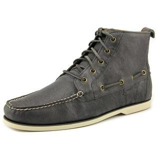 Polo Ralph Lauren Waterton Men Moc Toe Leather Gray Oxford