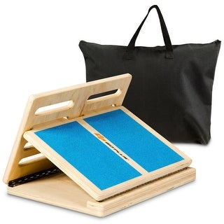 Link to Goplus 4-level Adjustable Slant Board Wooden Calf Stretcher Incline Similar Items in Fitness & Exercise Equipment