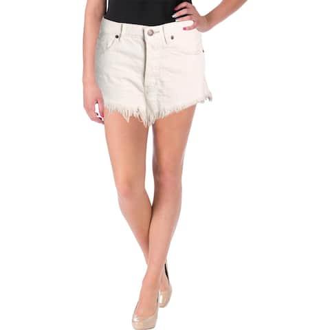 We The Free Womens Cutoff Shorts Distressed Frayed Hem