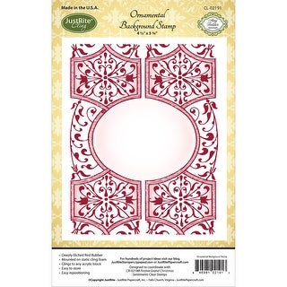 "JustRite Papercraft Cling Background Stamp 4.5""X5.75""-Ornamental"
