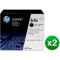 HP 64X Black Original LaserJet Toner Dual Cartridges (CC364XD)(2-Pack)