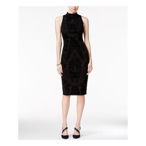 BAR III Black Sleeveless Below The Knee Dress XS