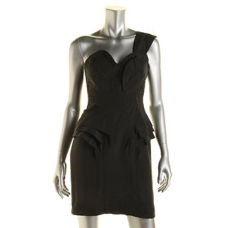 Guess Womens Cocktail Dress Pleated One Shoulder