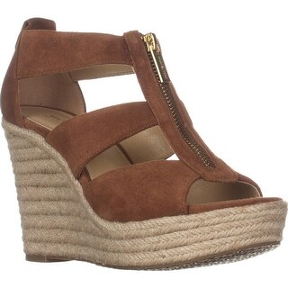 MICHAEL Michael Kors Damita Wedge Espadrille Sandals, Luggage