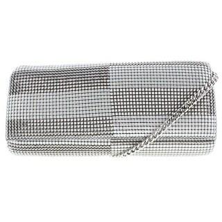 Whiting & Davis Womens Metal Mesh Clutch Shoulder Handbag - SMALL