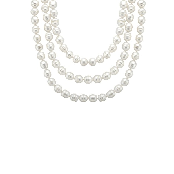 Honora 60-Inch Ringed Freshwater Pearl Necklace