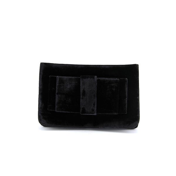 Shiraleah Bruna Women Velour Clutch - Black