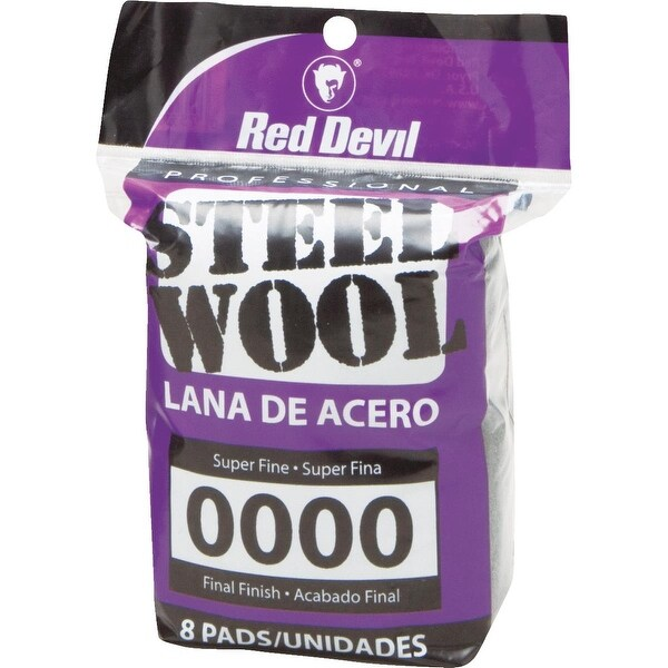 Red Devil 8Pk #0000 Steel Wool