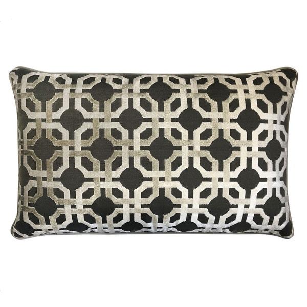 Shop Rodeo Home Martina Decorative Luxury Geometric Velvet Lumbar Pillow Overstock 31767772