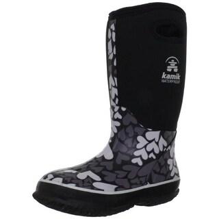 Kamik Girls Amour Printed Rain Boots - 11 medium (b,m)
