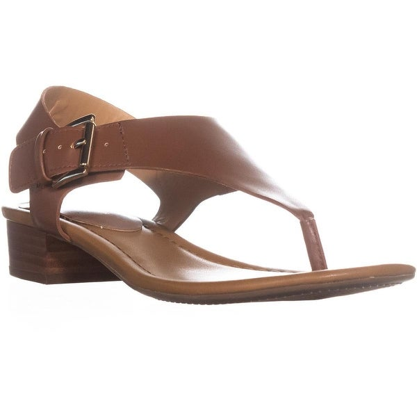 Tommy Hilfiger Kitty Open Toe Casual TStrap Sandals, Dark Brown - 9.5 us