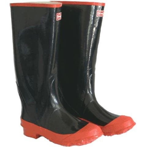 Boss 2KP5221-11 Rubber Knee Boot, Size 11, Black & Red