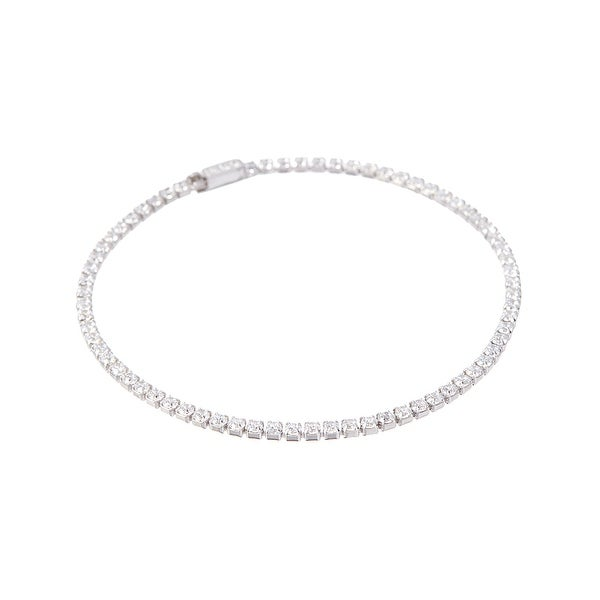 Cubic Zirconia & Sterling Silver Tennis Bracelet