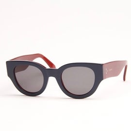 Blue And Burgundy Cat Eye Sunglasses