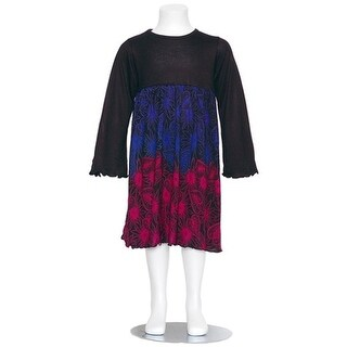 Danica and Dylan Toddler Girl Black Multi Color Print Dress 2T