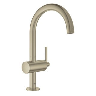 Grohe 23 828 3  Atrio 1.2 GPM Single Hole L-Size Bathroom Faucet with Pop-Up Drain Assembly