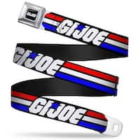 Gi Joe Stripe Logo Full Color Black Red White Blue Gi Joe Stripe Logo Black Seatbelt Belt