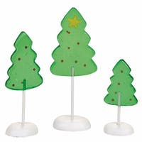 Department 56 Accessories for Villages Candy Corner Trees Acessory Figurines (Set of 3)