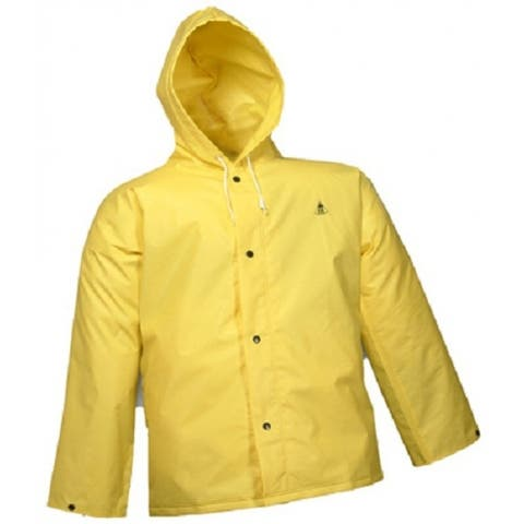 Tingley J56107-MD DuraScrim Jacket with Attached Hood, Medium, Yellow