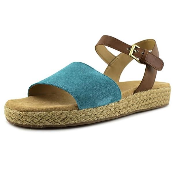 Aerosoles Global Women Blue Green Suede Sandals