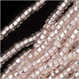 Czech Seed Beads 11/0 Light Rose Silver Foil Lined (1 Hank)