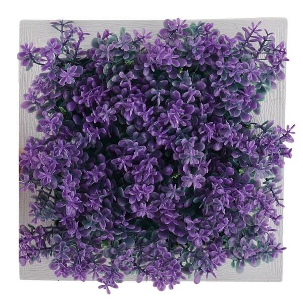Party Plastic Flower Shaped Simulated Artificial Plant Decor Frame 15cm x 15cm