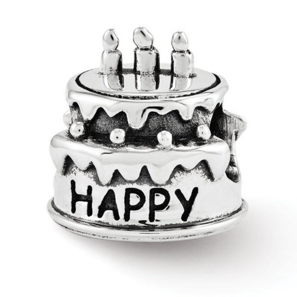 Sterling Silver Reflections Birthday Cake Bead (4mm Diameter Hole)