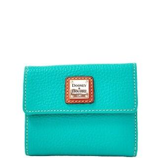 Dooney & Bourke Pebble Grain Small Flap Wallet (Introduced by Dooney & Bourke at $98 in Jan 2014) - Spearmint
