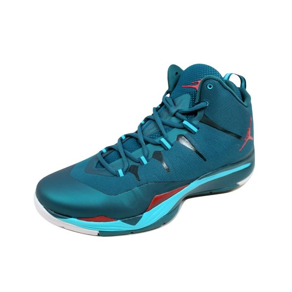 Nike Men's Air Jordan Super Fly 2 Dark Sea/Gym Red-Gamma Blue-White 599945-308 Size 12.5