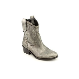 Guess Gennette Round Toe Leather Ankle Boot