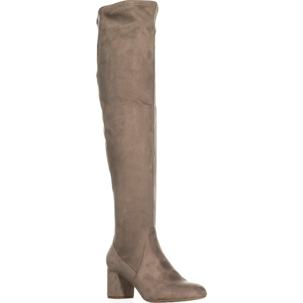 I35 Rikkie Wide Calf Over-The-Knee Boots, Soft Taupe