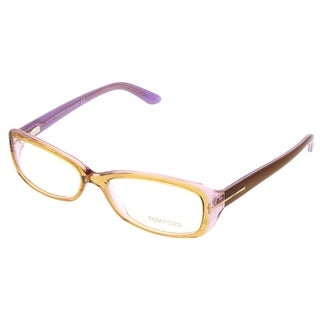 Tom Ford FT5213/V 050 Clear Yellow Rectangular Opticals