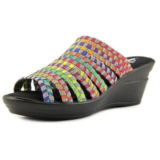 Corkys Ribbon Open Toe Synthetic Wedge Heel