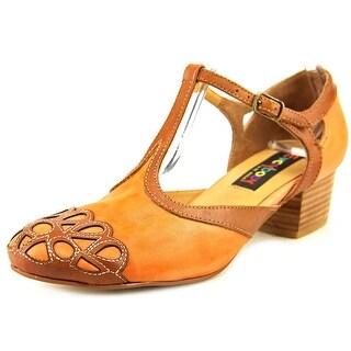 Everybody By BZ Moda Lentile Women Round Toe Synthetic Orange Heels