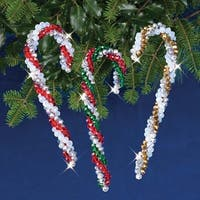 Crystal Candy Canes - Nostalgic Christmas Beaded Crystal Ornament Kit