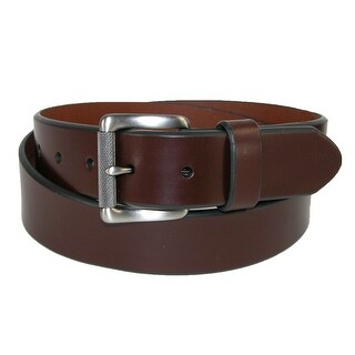 Dickies Men's Leather Beveled Edge Bridle Belt with Roller Buckle