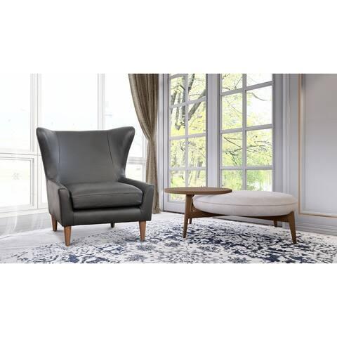 West Minimalist Modern Wingback Arm Chair