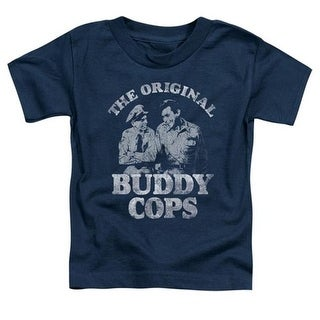 Andy Griffith-Buddy Cops - Short Sleeve Toddler Tee - Navy,