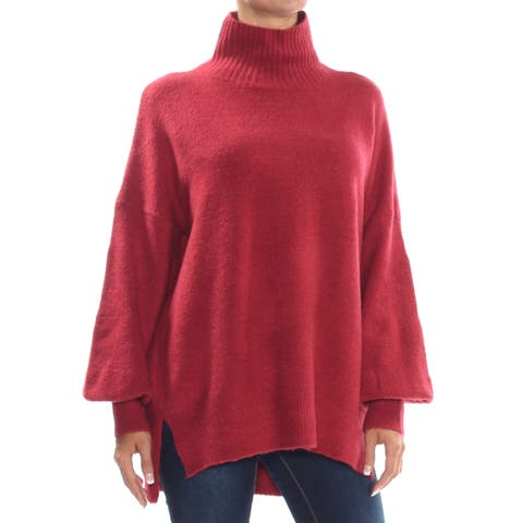 FRENCH CONNECTION Womens Red Mock-neck Long Sleeve Sweater Size: S